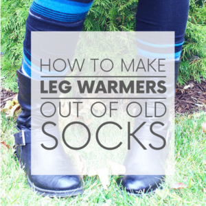 Leg warmers aren't just for dancers. They keep the legs toasty and also look kind of cute, no? Here are two ways to make DIY leg warmers out of old socks!