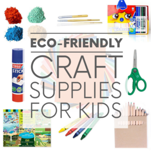 Craft supplies for kids are usually non-toxic, but that doesn't mean they're earth-friendly. Here are few non-toxic AND eco-friendly craft supplies.
