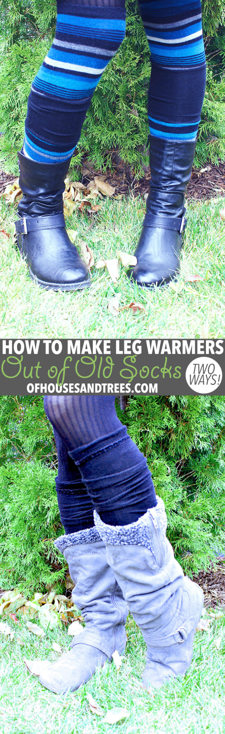 DIY Leg Warmers   Leg warmers aren't just for dancers. They keep the legs toasty and also look kind of cute, no? Here are two ways to make DIY leg warmers out of old socks!DIY Leg Warmers   Leg warmers aren't just for dancers. They keep the legs toasty and also look kind of cute, no? Here are two ways to make DIY leg warmers out of old socks!